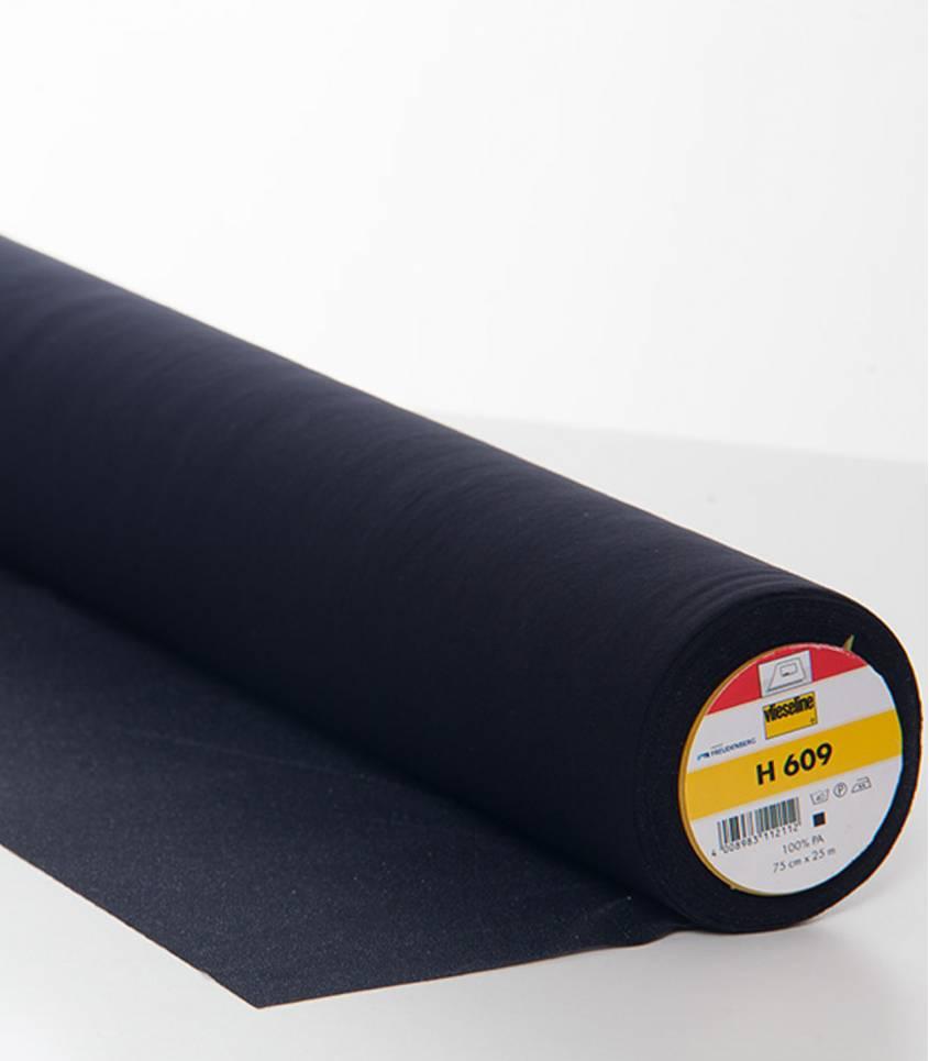 Entoilage noir haute élasticité H609