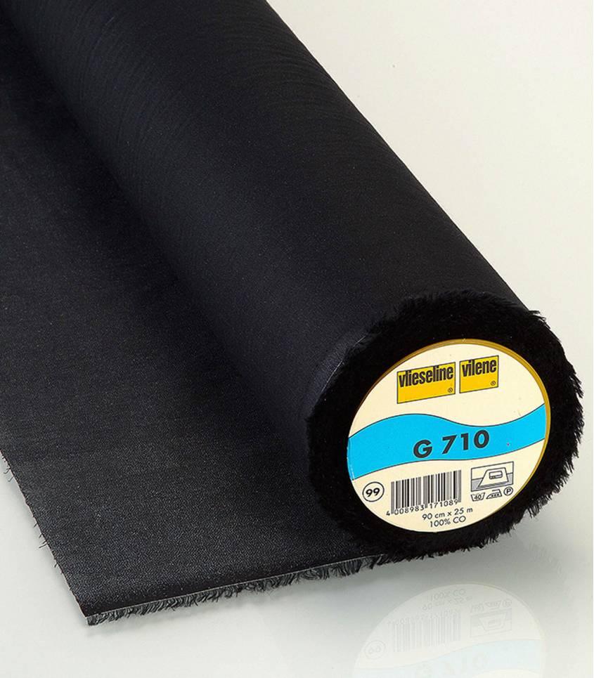 Entoilage fin tissé noir G710