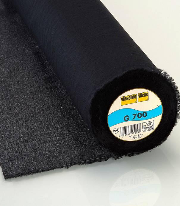 Entoilage tissé noir G700