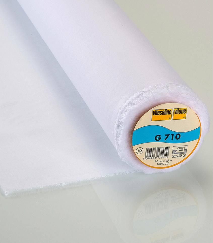 Entoilage fin tissé blanc G710