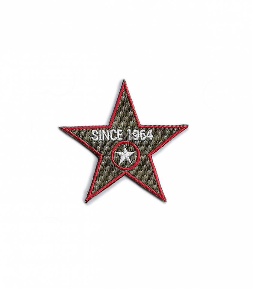 Ecusson thermocollant Since 1964 Stars - kaki