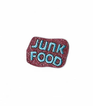 Ecusson thermocollant Junk food - pink