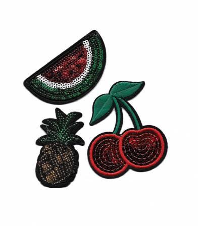Ecusson thermocollant - Trio fruits