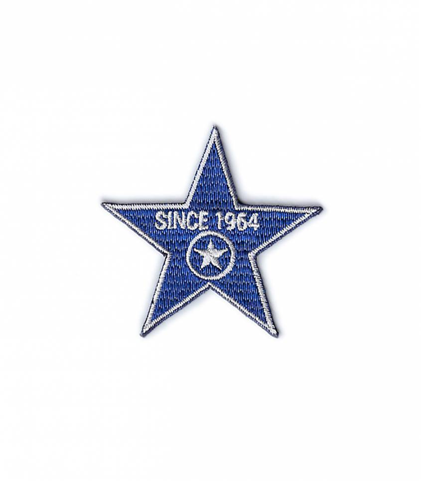 Ecusson thermocollant Since 1964 Stars - blue