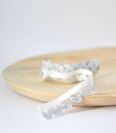 Elastique croquet blanc/argent