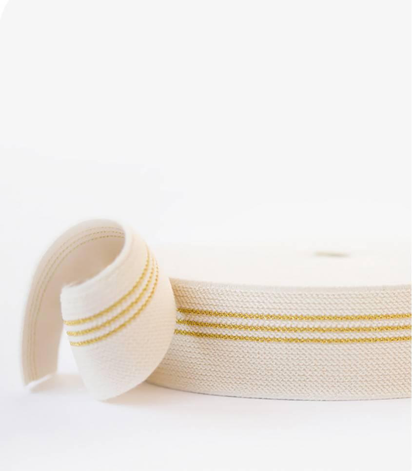 Ceinture élastique - 3 lignes OR