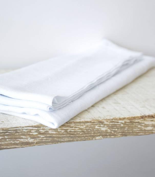 Lin lavé blanc optique