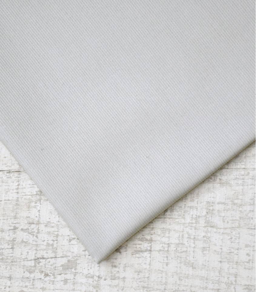Piqué de coton gris perle