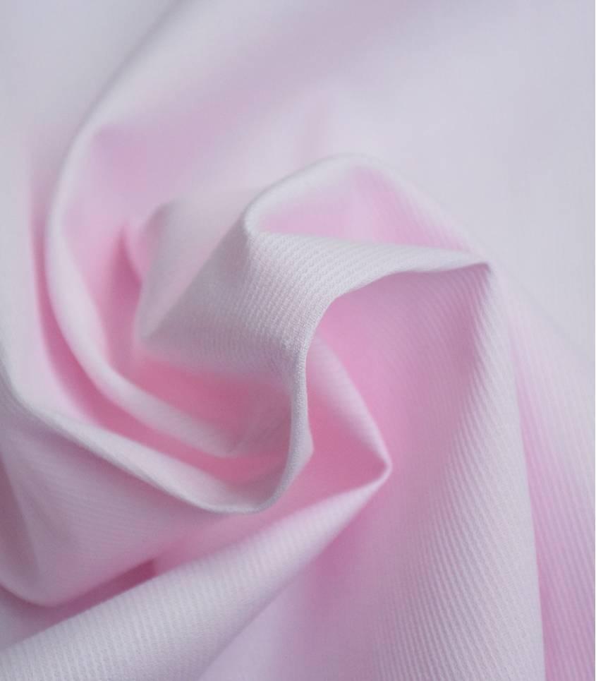 Piqué de coton rose