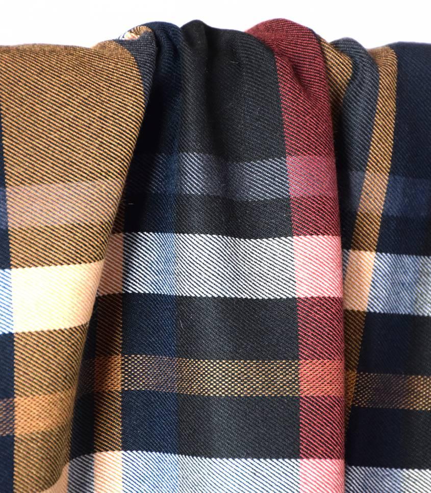 Tissu grands carreaux - Ambre