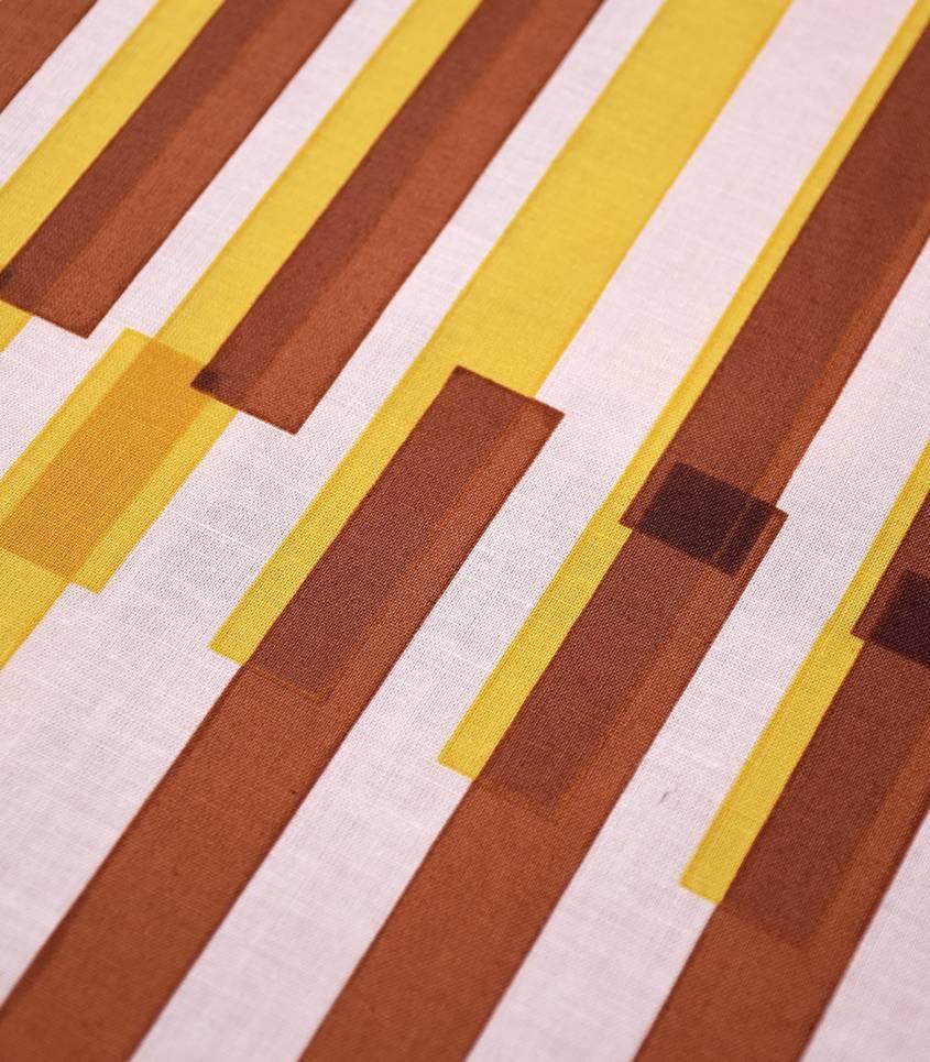 Tissu japonais Kokka - Night view caramel/yellow