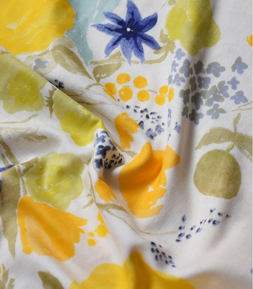 Tissu japonais Nani Iro- Rakuen yellow