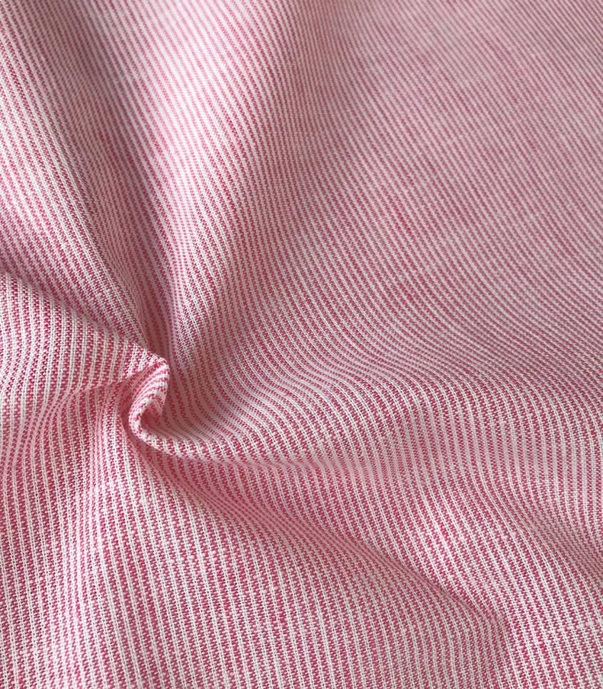 Tissu Fines rayures - rouge