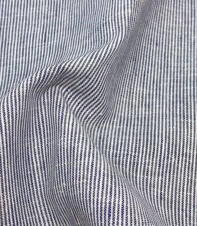 Tissu Fines rayures - marine