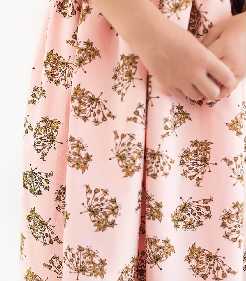 Tissu French terry WILD GARLIC - Blossom Pink