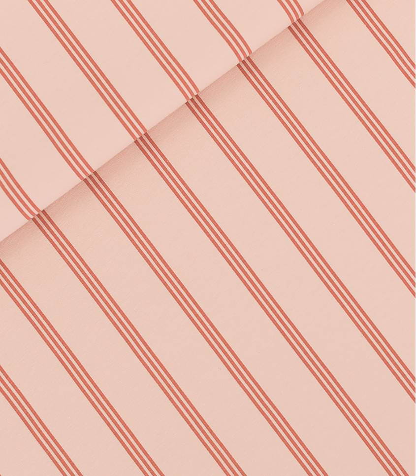 Tissu French terry THREE LINES - Evening Pink