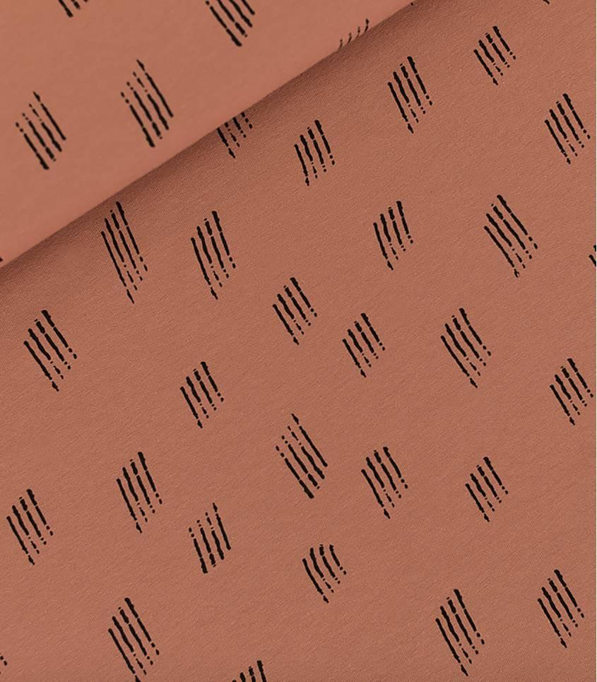 Tissu French terry SCRATCHES - Hazel Brown