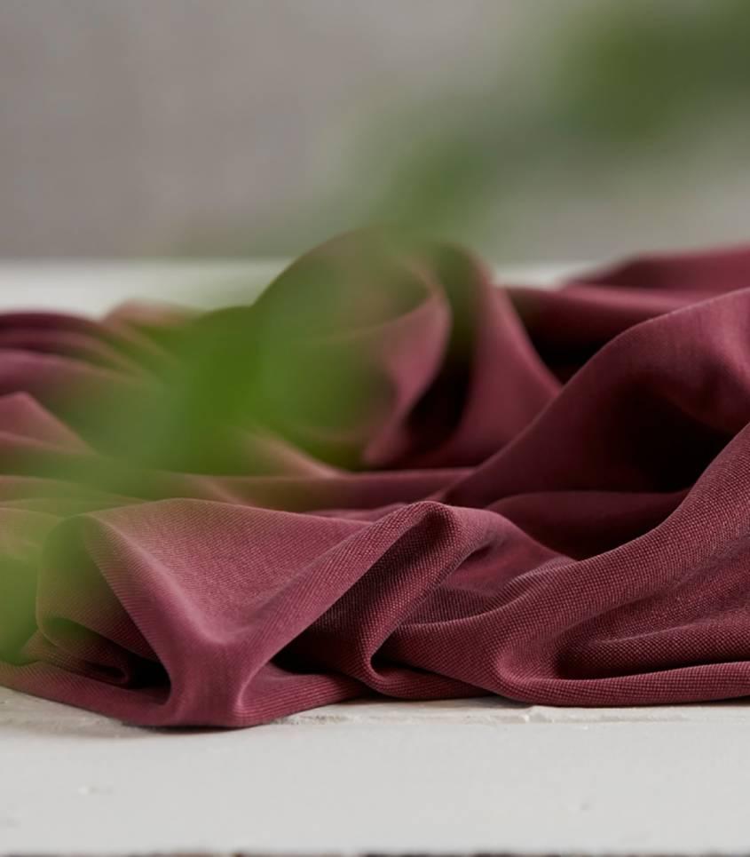 Tissu modal double knit - Wine Meet Milk