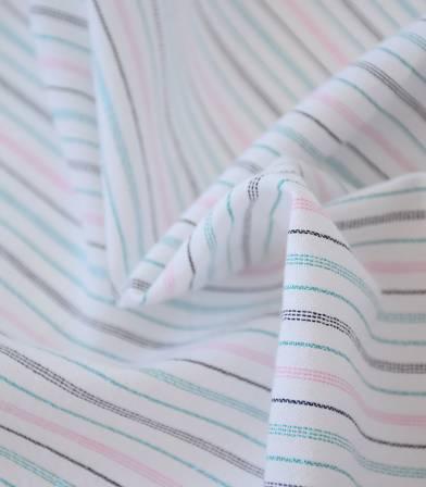 Tissu rayures Séville - lurex émeraude