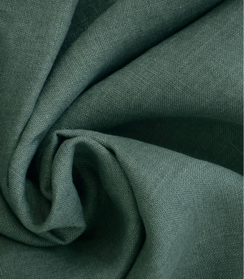 Tissu lin lavé smoke green