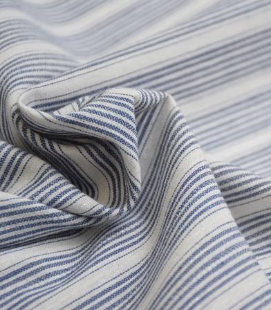 Tissu rayures Madrid - bleu argent
