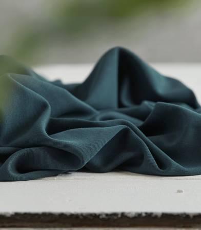 Tissu modal double knit - Océan