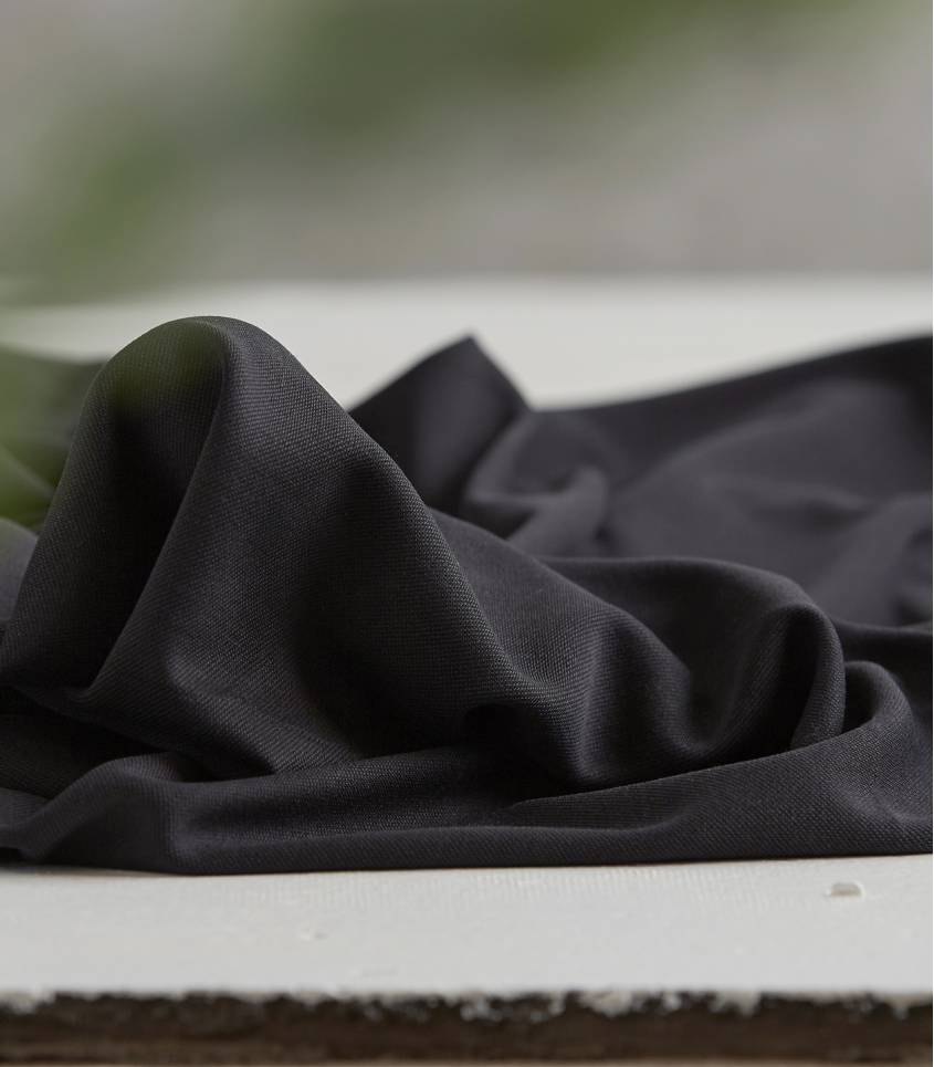 Tissu modal double knit - Black