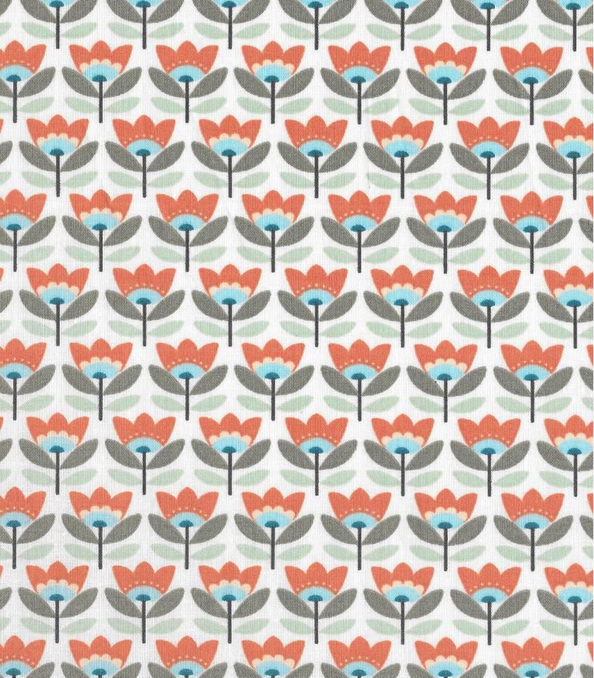 Tissu enduit Sven - Orange