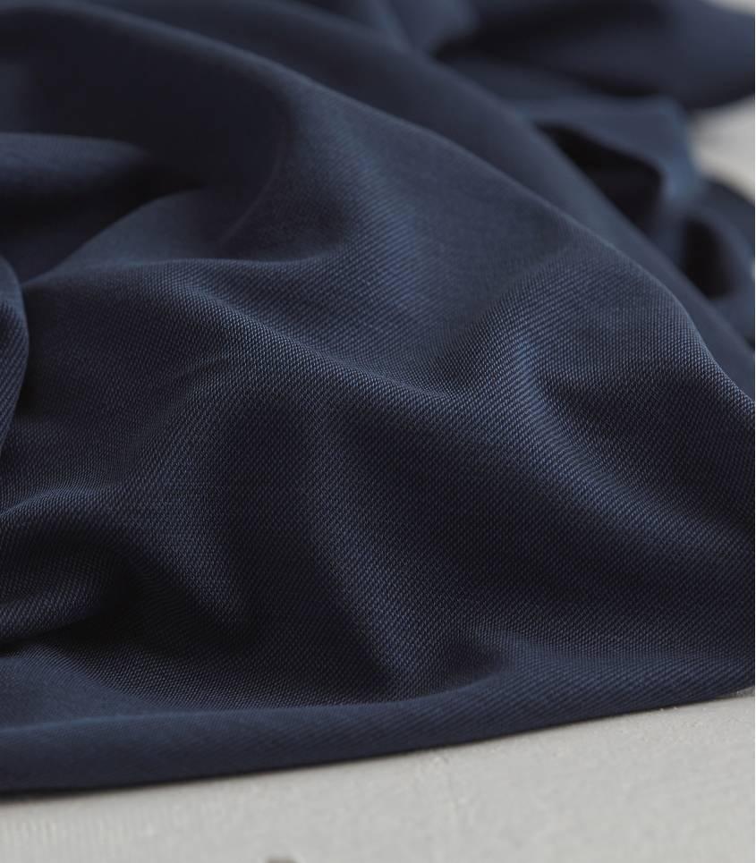 Tissu modal double knit - Navy
