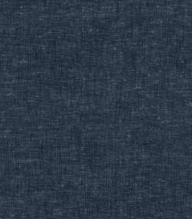 Tissu lin coton chiné bleu