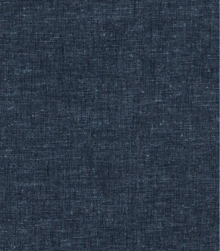 Tissu lin / coton chiné bleu