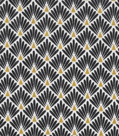 Tissu enduit Ecailles noires / dorées