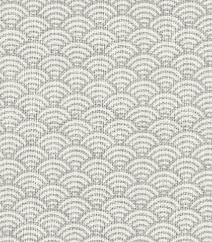 Tissu enduit Sushi gris perle