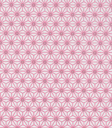 Tissu enduit Saki ivoire/pink
