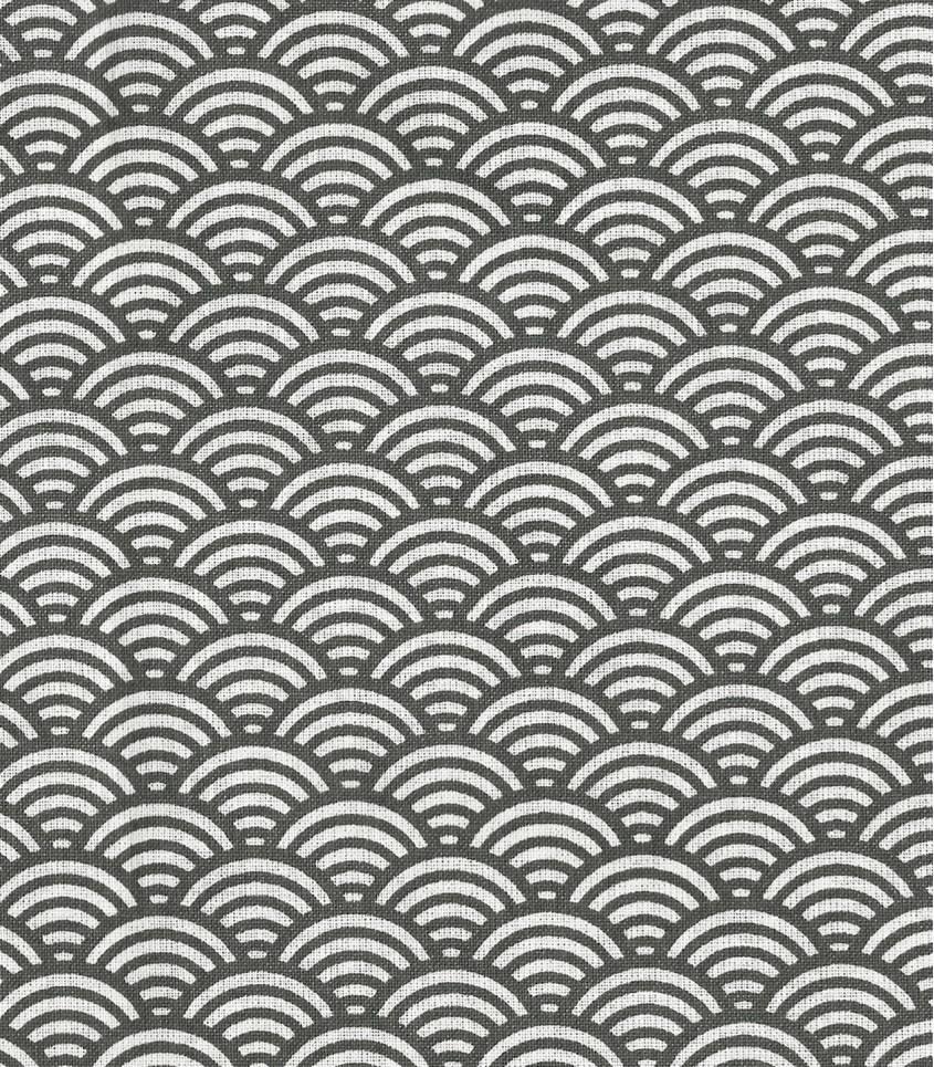 Tissu enduit Sushi gris