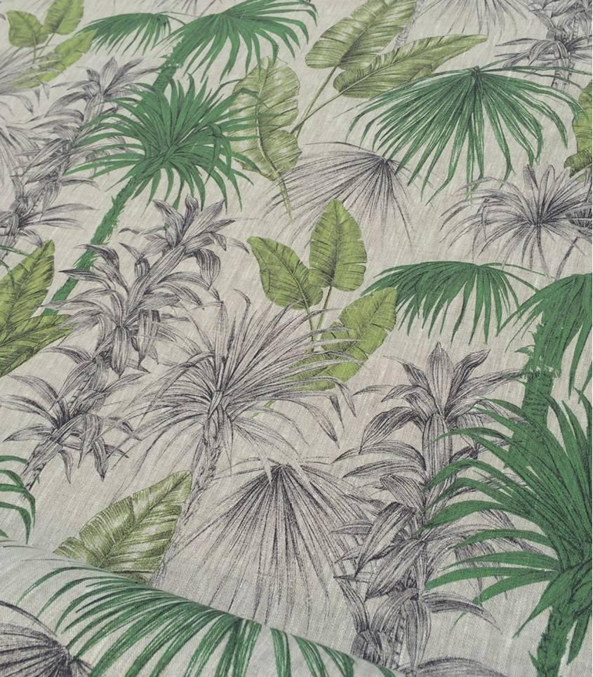 Tissu Lin Jungle
