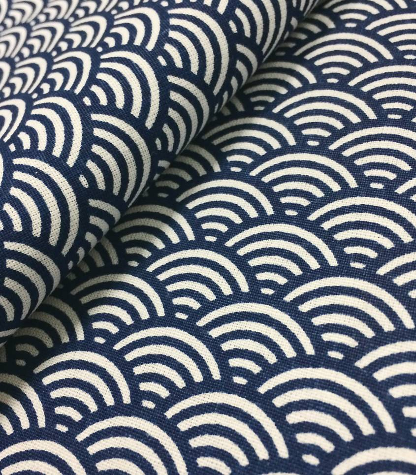 Tissu japonais Sushi indigo