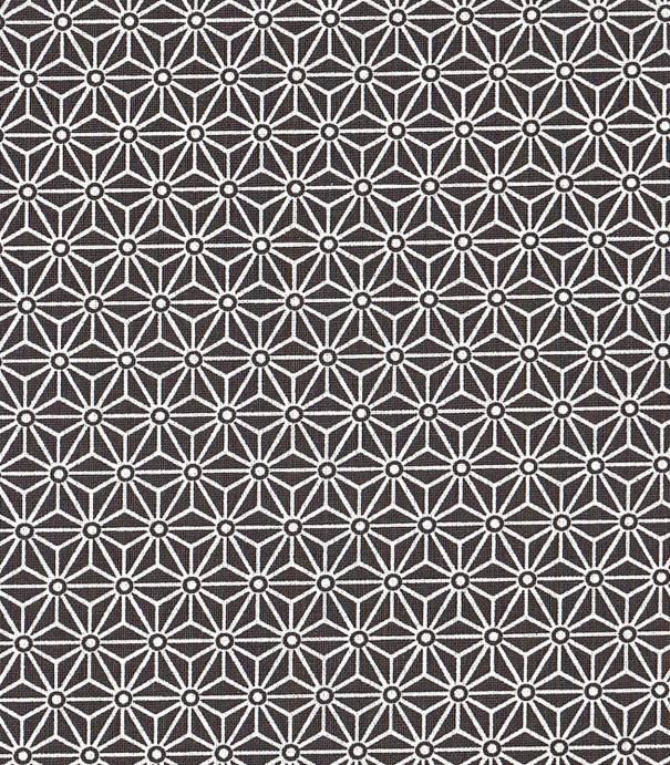 Tissu enduit Saki noir/blanc
