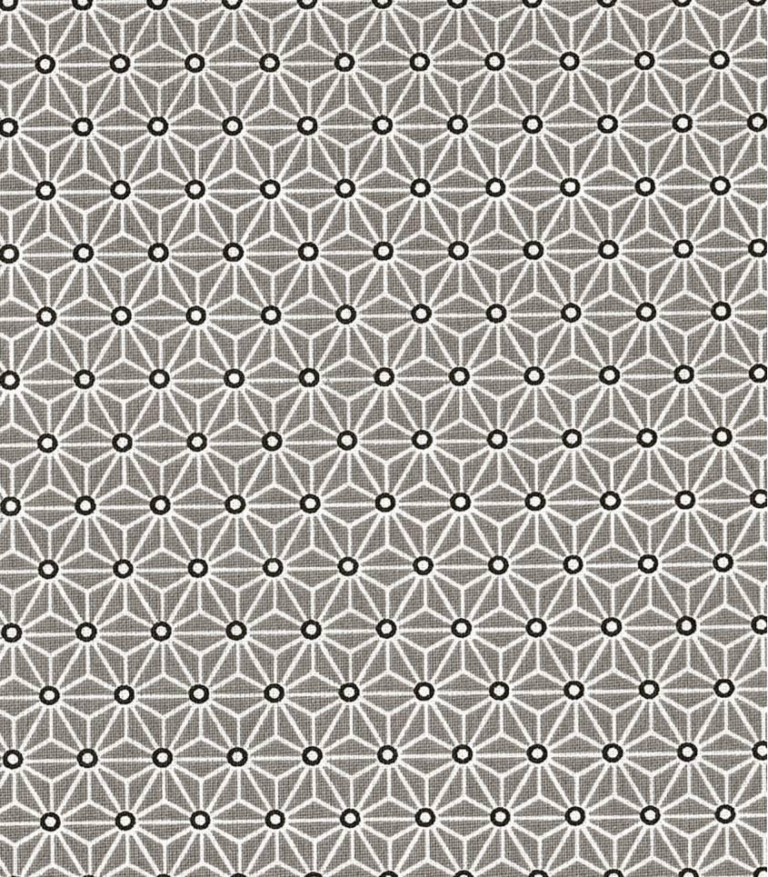 Tissu enduit Saki gris/blanc