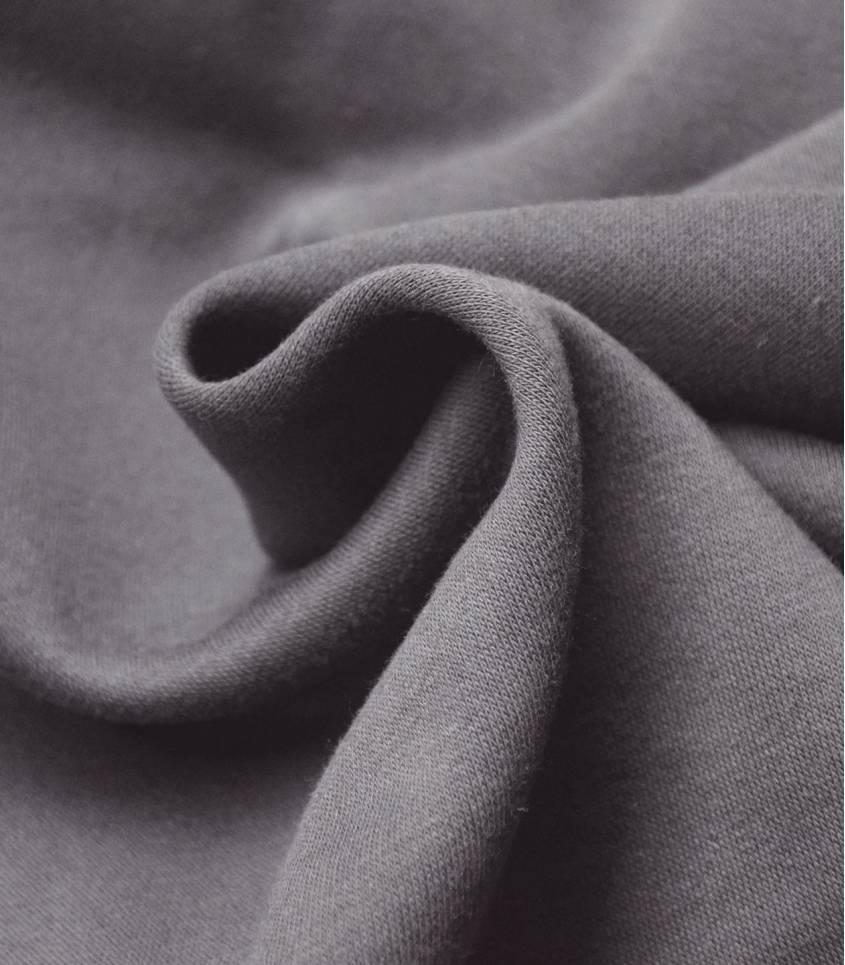 Tissu molleton gris