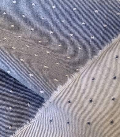 Tissu bio Raw dots denim