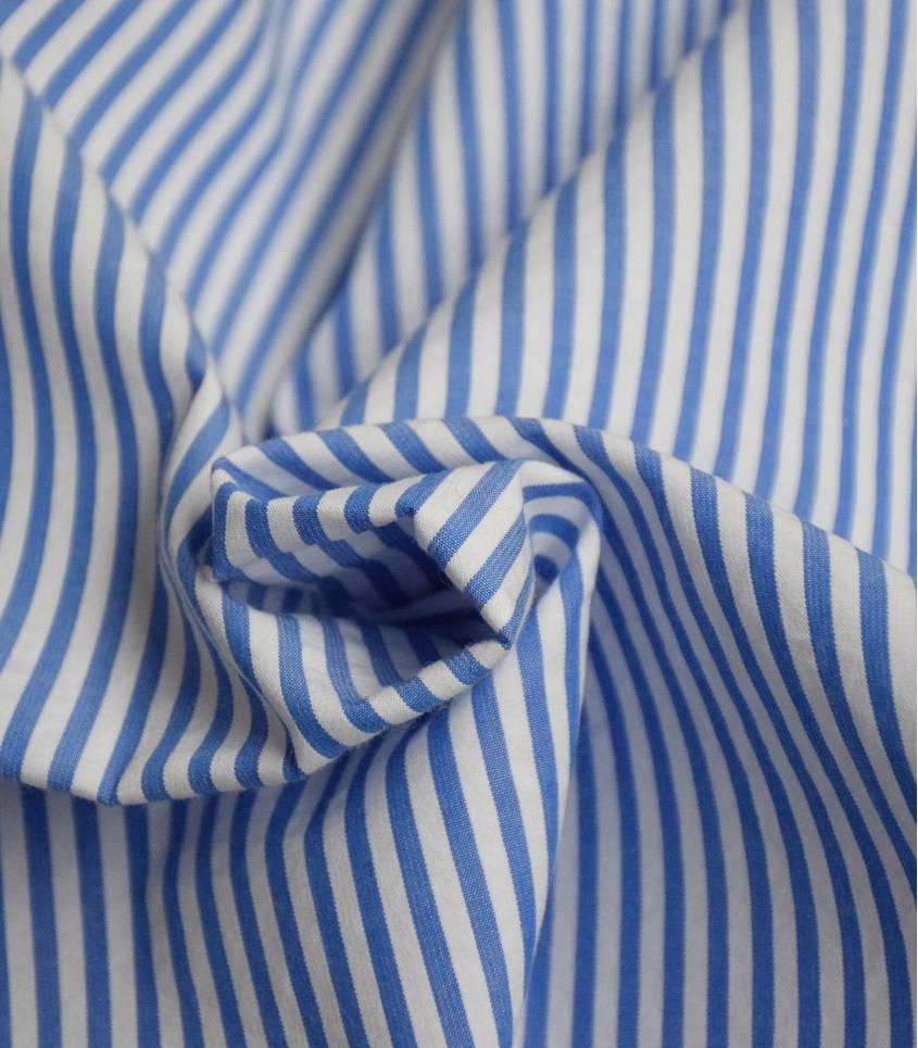 Seersucker rayures bleues