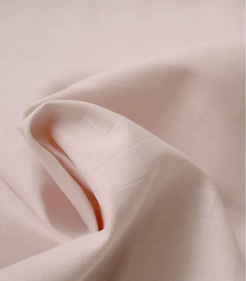 Tissu lange rose poudré