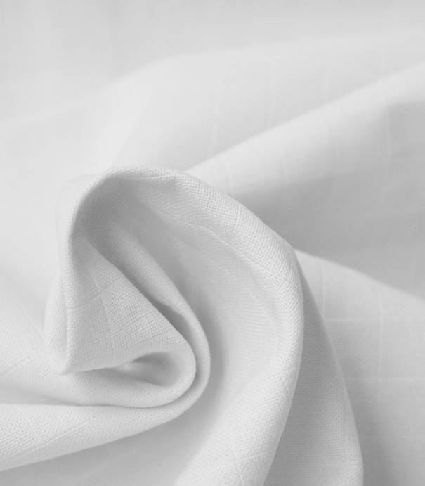 Tissu lange blanc