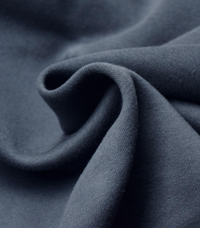 160 cms NEUF Tissu à sweat en molleton marine 50 cms