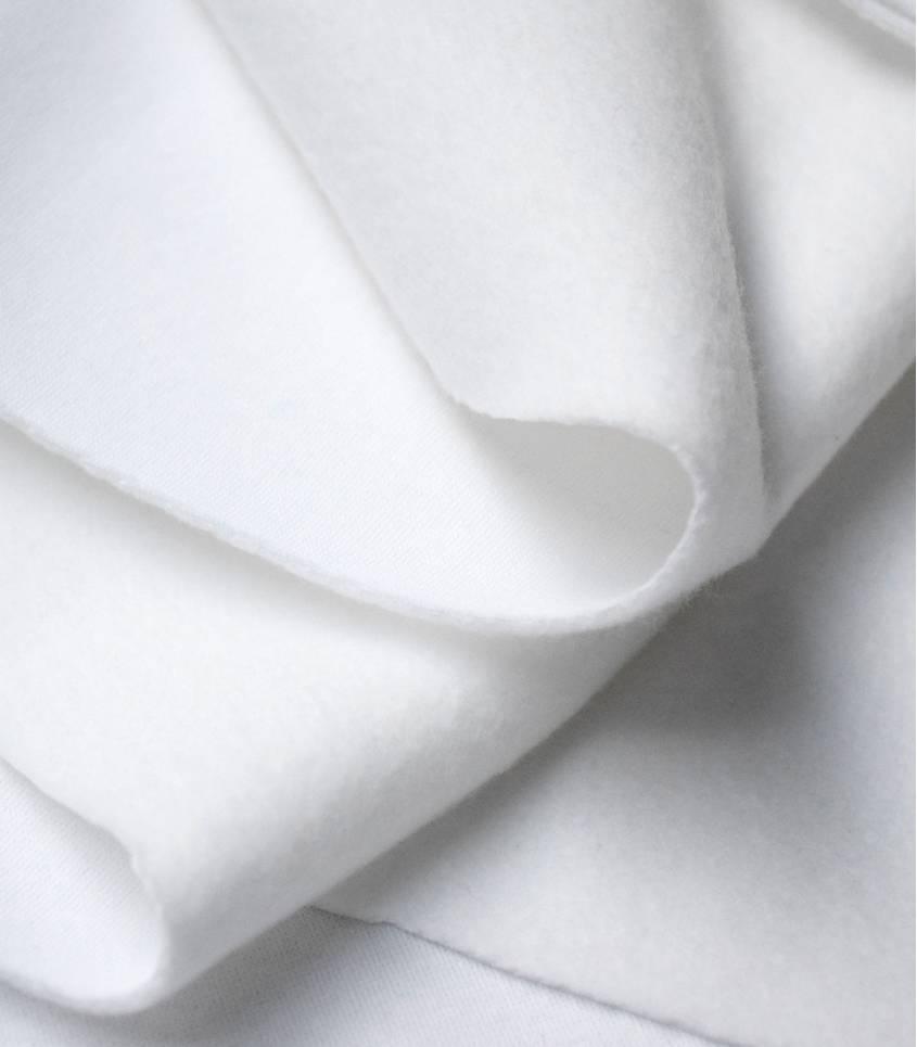 Tissu molleton blanc