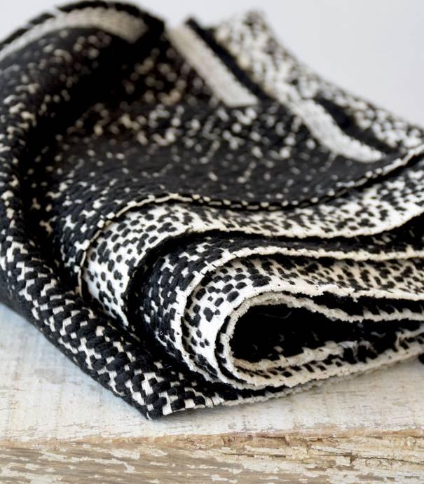 Tissu manteau - Jacquard de laine black & white