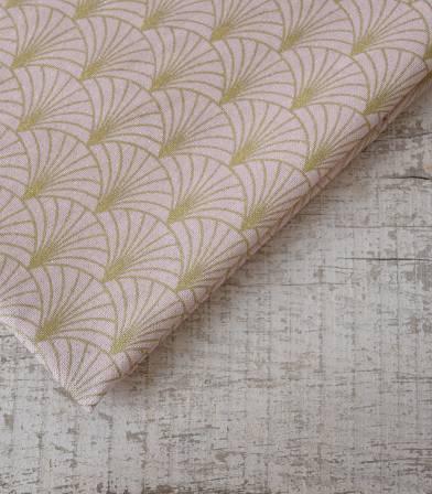 Tissu canvas - Art Déco rose gold