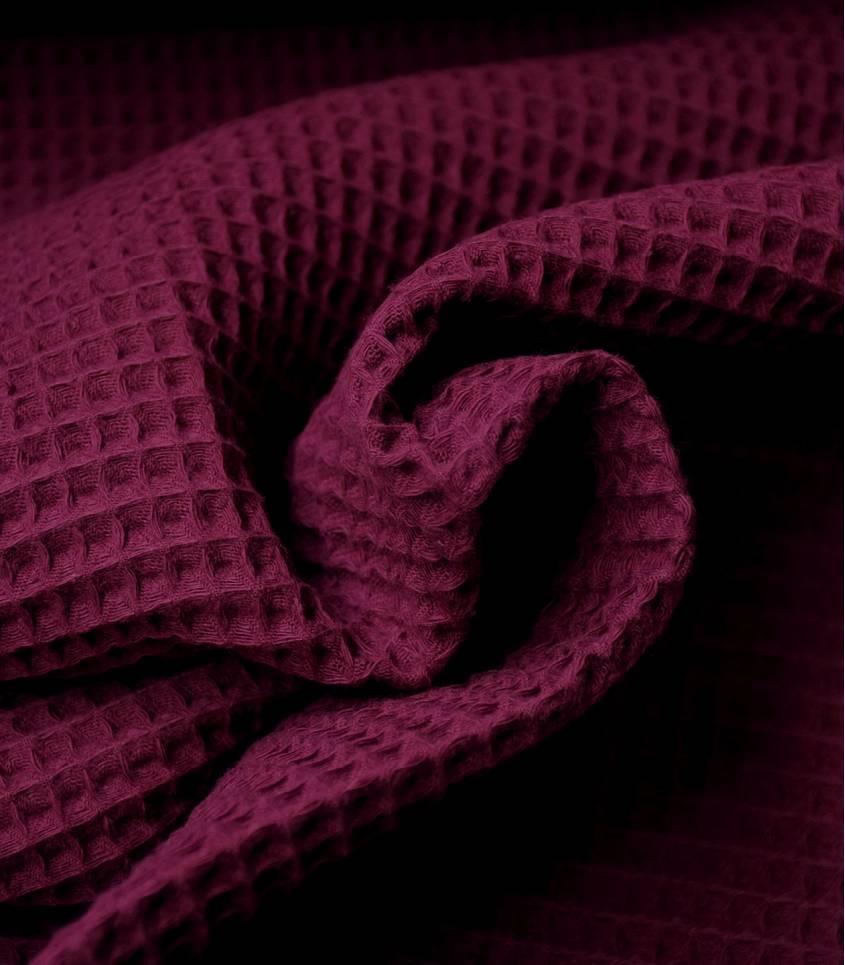 Tissu coton Nid d'abeille - Purple