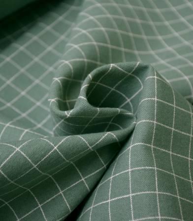 Tissu flanelle de coton - Grid Jade